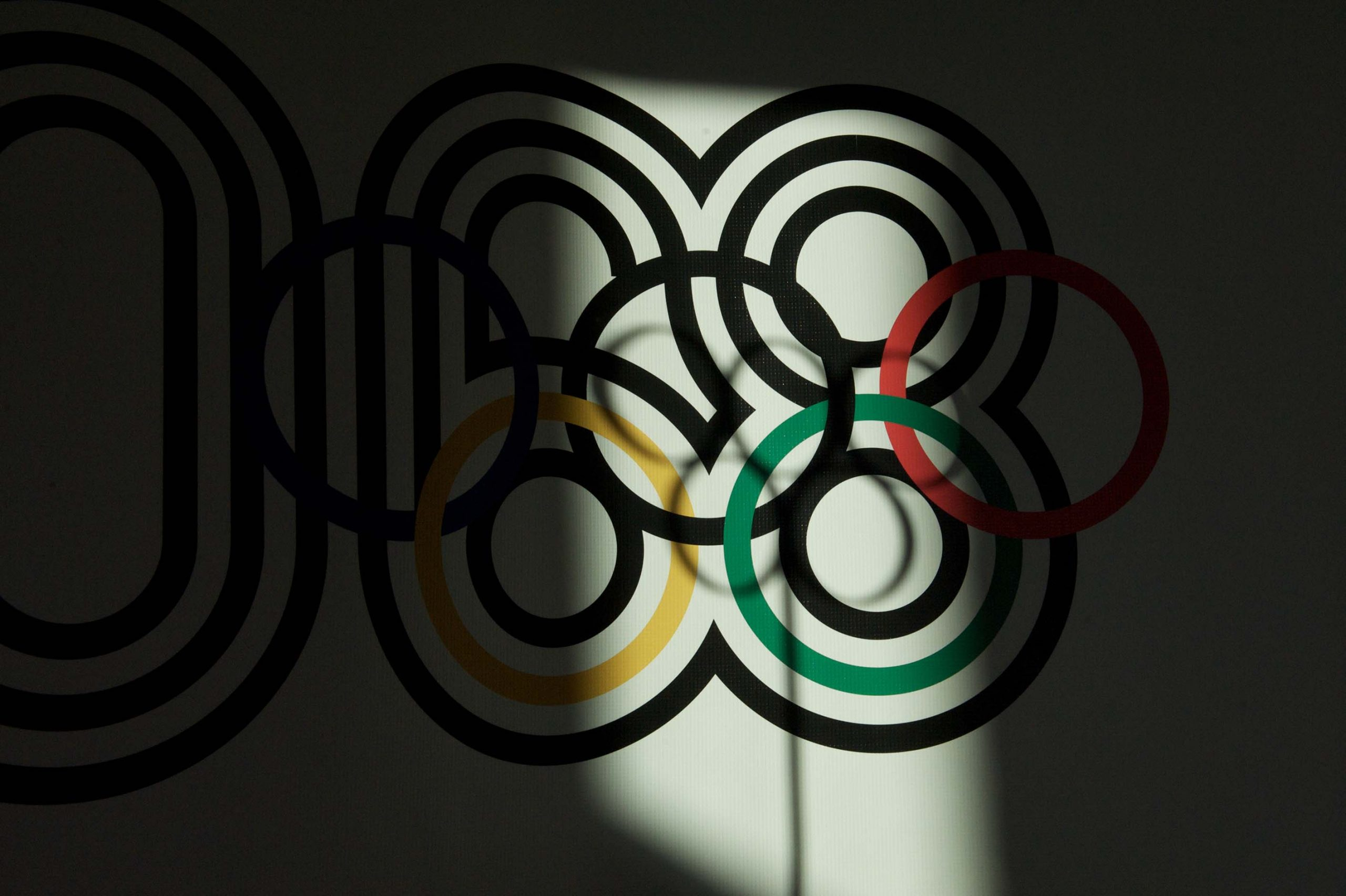 The 1968 Mexico City Summer Olympics logo at the 1968 U.S. Olympic Team 2012 Reunion.
