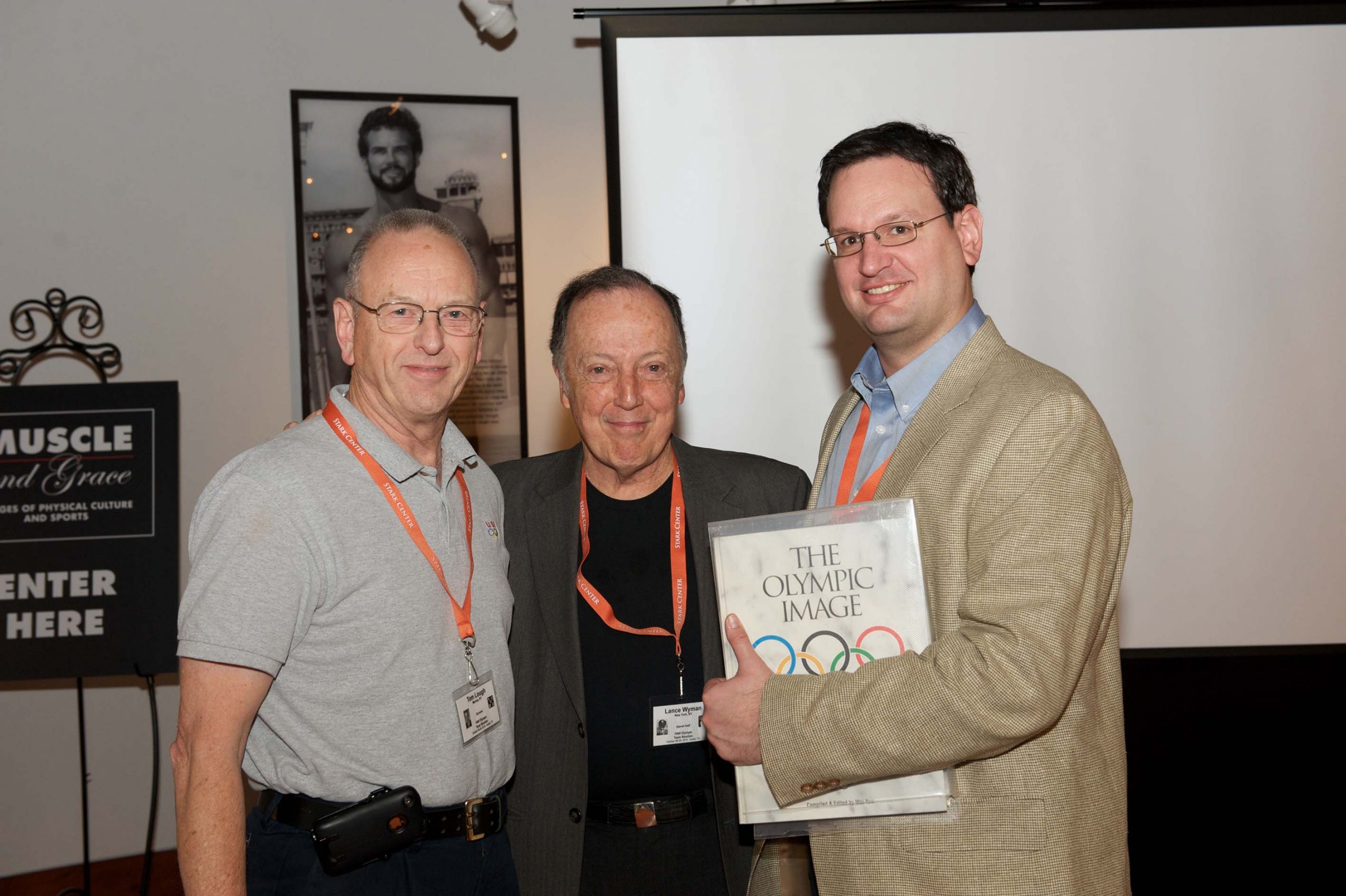 Tom Lough, Thomas M. Hunt and another man, at the 1968 U.S. Olympic Team 2012 Reunion.