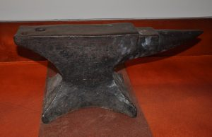 The George F. Jowett Anvil, from the George F. Jowett Collection, in the Strong Men, Strong Women Gallery.