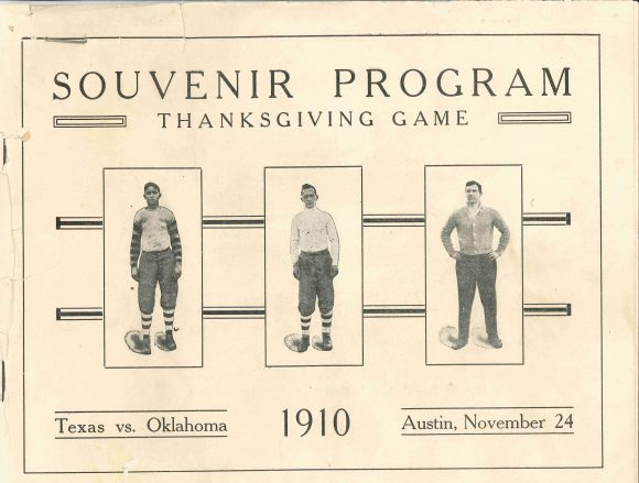 Texas vs Oklahoma 1910 Football Program