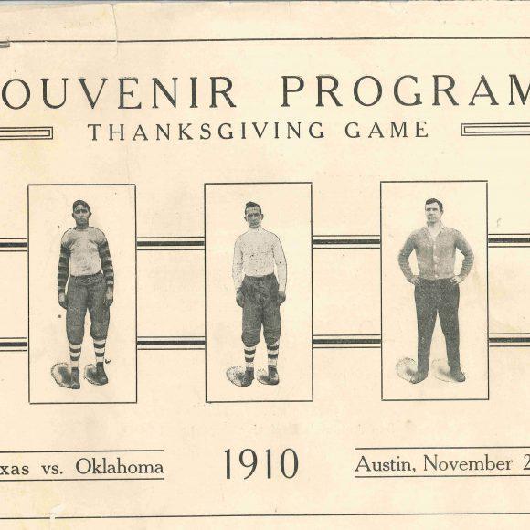 Texas vs Oklahoma 1910 Football Program