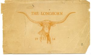 The cover of the University of Texas The Longhorn football program, the first time the term Longhorn was used, from the Clyde Raab Littlefield Collection.