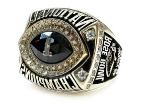 The ring presented to former University of Texas football coach Darrell K. Royal on the occasion of Texas' 2005 National Championship, from the Darrell K. Royal Collection