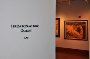 Entrance to the Teresa Lozano Long Art Gallery, located in the main lobby. A poster featuring strongman Ernest Cadine, from the Todd Poster Collection, is in the background.