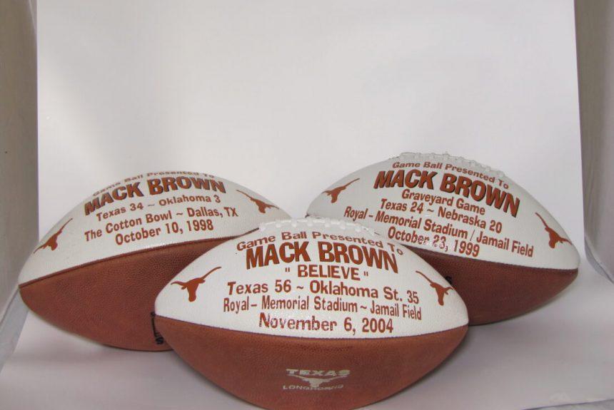Mack Brown's Commemorative Footballs