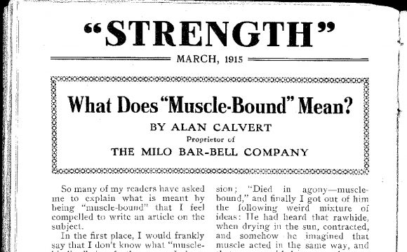 Strength Magazine, 1914-1930