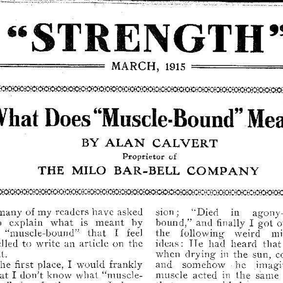 Strength Magazine, 1914-1930