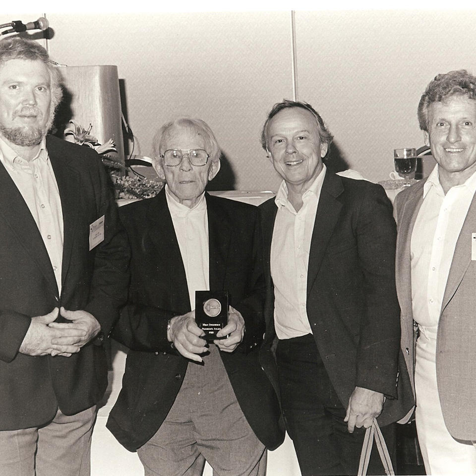 (From Left to Right)Terry Todd, Milo Steinborn and Henry Steinborn, when Milo was honored by the NSCA