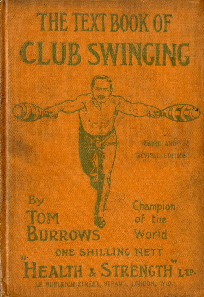 The cover of The Textbook of Club Swinging by Tom Burrows.