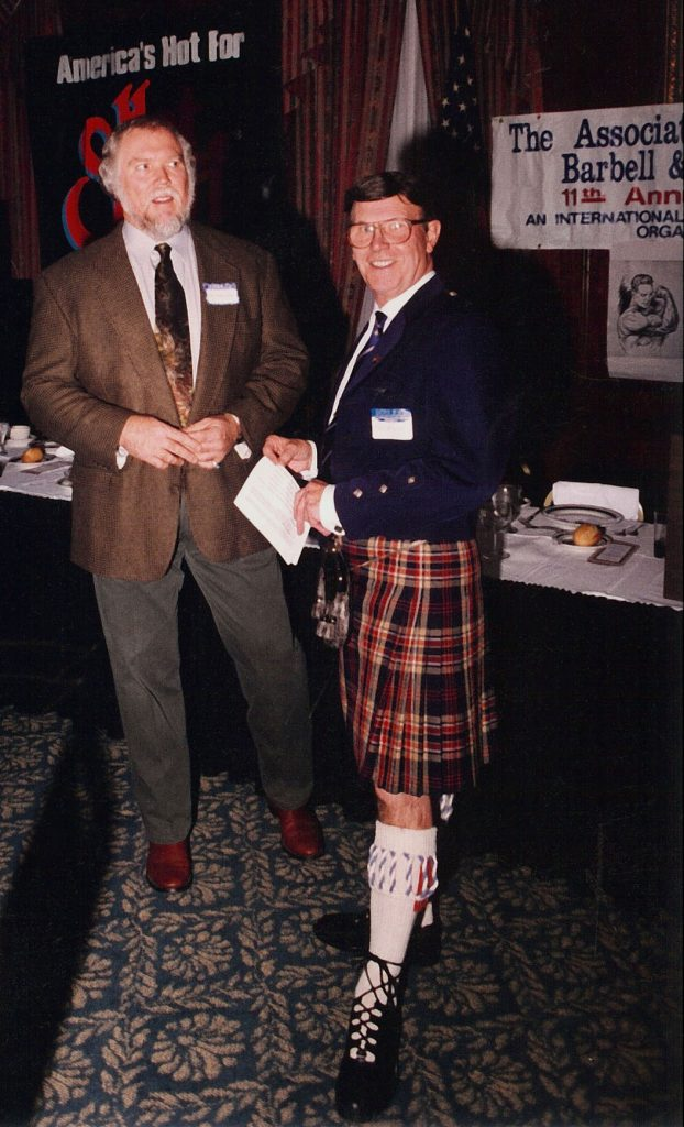 A photograph of Terry Todd and David P. Webster.