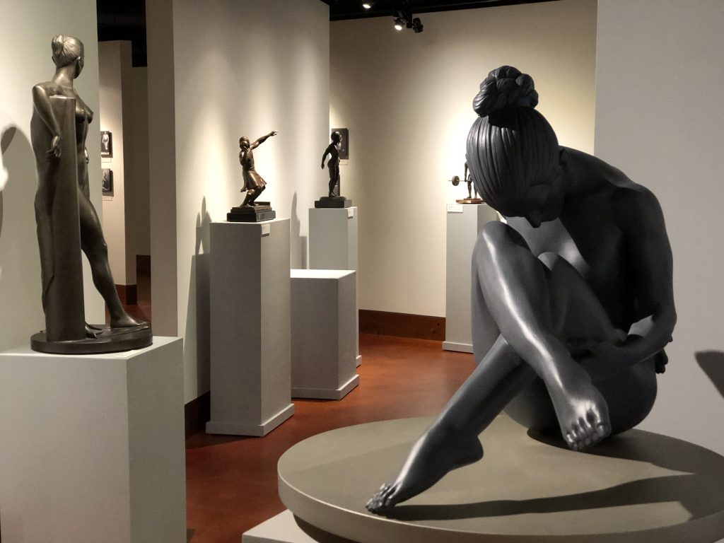 Sculptures featured in the David Deming and Michael Deming Exhibit